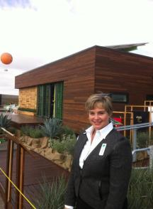 Irvine Commissioner Melissa Fox at Solar Decathlon