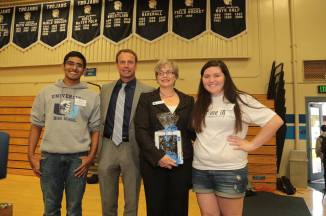 Irvine Commissioner Melissa Fox at University High School