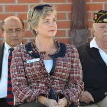 Irvine Community Services Commissioner Melissa Fox at Veterans Day ceremony