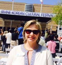 Irvine City Councilmember Melissa Fox at Irvine Korean Festival