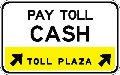 e90_8_cash_toll_direction_arrow_toll_plaza