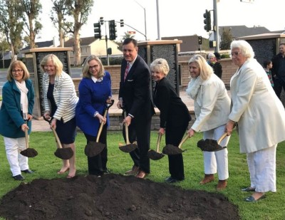 Councilmember Melissa Fox joins with Gold Star Mothers and other City Councilmembers at Northwood Gratitutde and Honor Memorial Expansion Ceremony